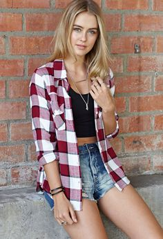 Rustic Plaid Shirt | FOREVER21 We're mad for plaid #F21Spring #Flannel #MustHave