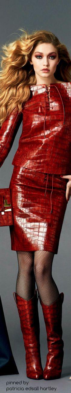 Ad Campaign: Tom Ford Fall/Winter 2014-2015 Model: Gigi Hadid,Photographer: Johnny Dufort: