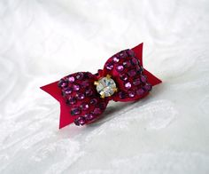 Hey, I found this really awesome Etsy listing at https://www.etsy.com/listing/66496648/dog-bow-swarovski-crystal-pave-dog-bow