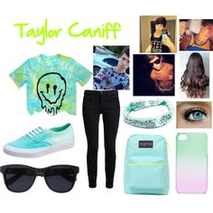 Taylor Caniff by anaya-mont on Polyvore featuring Proenza Schouler, Vans, JanSport, With Love From CA, Anine Bing and Full Tilt
