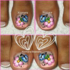 Pedicure Nails, Mani Pedi, Manicure, Toe Nail Art, Toe Nails, Pretty Nail Designs, Nail Art Designs, Gorgeous Nails, Pretty Nails