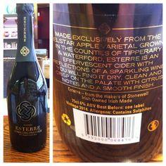 At Bradleys Off-Licence, Cork. Stonewell Cider Esterre Sparkling Prestige