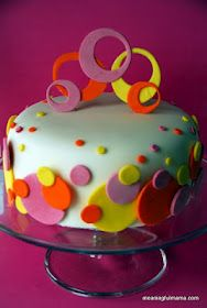 Polka Dot Sweet Sixteen Cake & A Recipe for Edible Glue