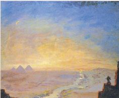 Distant View of the Pyramids by Winston Churchill