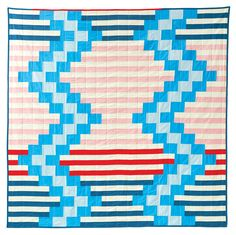 Wakefield is a graphic, high-impact, modern quilt pattern that is quick to put together, even for a beginner. The design is a great way to play wit. Modern Quilt Patterns, Quilt Patterns Free, Quilt Modern, Quilting Tutorials, Quilting Designs, Quilt Design, Quilting Ideas, Log Cabin Quilts, Barn Quilts