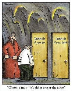Remember The Far Side comics? Let's have a good laugh, post your favorite Far Side comic. Cartoon Jokes, Funny Cartoons, Funny Comics, Gary Larson Cartoons, Gary Larson Comics, Far Side Cartoons, Far Side Comics, Haha Funny, Funny Jokes