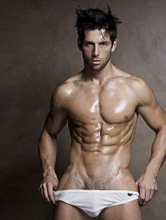 Hot Male Models Underwear Wet