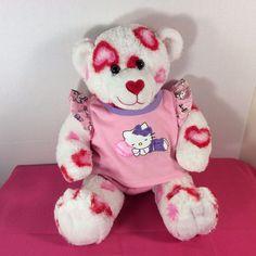 "Build-a-Bear Workshop Plush Love Teddy Bear Heart Kisses Kitty Pajamas 15"" White #BuildaBear #AllOccasion"