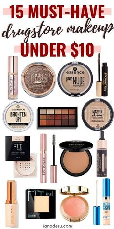 muss beauty-produkte drogerie make-up haben , Makeup Must Haves, Makeup To Buy, How To Apply Makeup, Make Up Kits, Snapchat Makeup, Makeup Kit Essentials, Desu Desu, Drugstore Makeup Dupes, Makeup Products