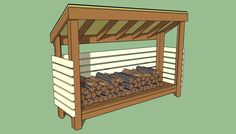 Features of a firewood shed vary.