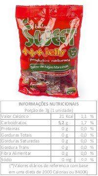 Bala de Algas Marinhas Sabor Morango - 200g bala de algas marinhas agar agar sabor morango 200g