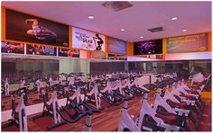 Gym spinning area