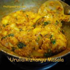"""Urullai Kizhangu Masala or Potato Masala – This recipe is an inspiration from a cookery cum travelogue show that I watch in News7(Tamil) called """"Sutrulaam Suvaikalam"""". The anchor …"""