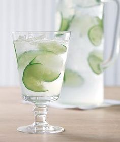 Cucumber and Lime Spritzer | RealSimple.com
