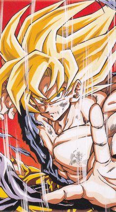 Goku First time super saiyan Dragon ball Manga Anime, Anime Art, Dragon Ball Z, Manga Dragon, Cosplay Anime, Fan Art, Illustrations, Digimon, Sketches