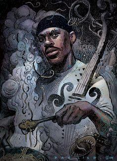 Guru from Gangstarr by Dan Lish www.danlish.com www.facebook.com/danlish01