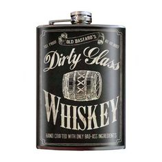 """Dirty Glass Whiskey"" Flask by Trixie & Milo"