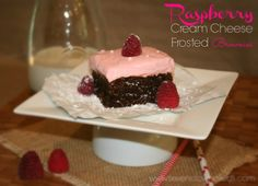 Raspberry Cream Cheese Frosted Brownies via Seven Clown Circus #McCormickBakeSale