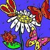 Borboletas no jardim de flor para colorir - http://www.jogarjogosonlinegratis.com.br/jogos-de-customizar/borboletas-no-jardim-de-flor-para-colorir/