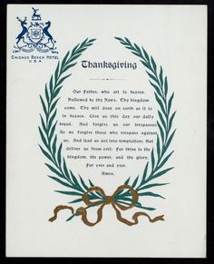 File Thanksgiving Day Dinner Held By Chicago Beach Hotel At