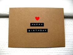 Kraft Birthday Card Happy Birthday Dymo Labels by stuffannaloves