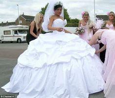 My Big Fat American Gypsy Wedding: favorite show ever! Gypsy Wedding Gowns, My Big Fat Gypsy Wedding, Gipsy Wedding, Big Wedding Dresses, Big Dresses, Wedding Dressses, Gypsy Dresses, Designer Wedding Dresses, Bridal Dresses
