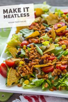 The Ultimate Vegan Taco Salad