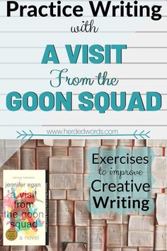Practice fiction writing & improve your skills with the award-winning novel, A Visit From the Goon Squad Writing A Novel Tips, Fiction Writing, Writing Process, Start Writing, Writing Practice, Writing Help, Writing Skills, Novels For Beginners, Best Authors