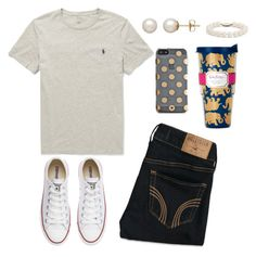 """""""Untitled #79"""" by valerienwashington on Polyvore featuring Polo Ralph Lauren, Hollister Co., Converse, Honora, Kate Spade, Lilly Pulitzer and Blue Nile"""