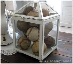 Baseballs (in a different container). Love this!