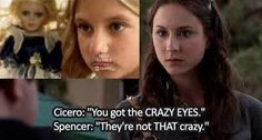 Pretty Little Liars clue Pretty Little Liars Theories, Watch Pretty Little Liars, Pretty Little Liars Quotes, Pll, Liar Game, Crazy Eyes, Spencer Hastings, Brenda Song, I Love My Friends