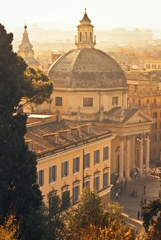 View from the Pincio Hill, Rome, Italy