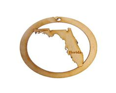 Florida Ornament - Florida State Ornament - Florida Gift - Florida Christmas Ornament - Florida Decor - Florida Gifts >> A special product just for you. See it now! : Handmade Gifts
