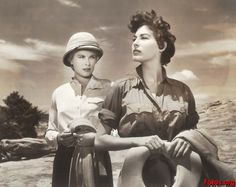 Grace Kelly and Ava Gardner in 'Mogambo' - screen legends and great style!   www.sunhats.co.za
