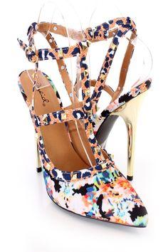 Sexy High Heels, High Heel Pumps, Womens High Heels, Pumps Heels, Stiletto Heels, Spring Shoes, Summer Shoes, 6 Inch Heels, Floral Heels