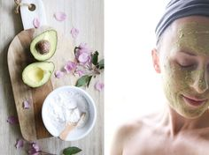 A simple 2 Ingredient Avocado Clay Mask that is really easy to make and use. It leaves skin pure and detoxed. A great inexpensive at-home DIY mask. Pure Clay Mask, Clay Masks, Homemade Skin Care, Diy Skin Care, Hydrogen Peroxide Skin, Tanning Cream, Healthy Oils, Skin Brightening, Skin Treatments
