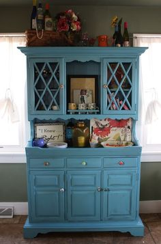 DIY hutch redo! Sugar Hill Blog I need something like this for my home!