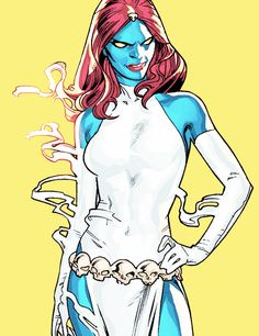 Mystique, as penciled by Stuart Immonen and inked by Wade von Grawbadger