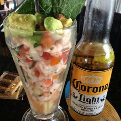 Enjoy delicious shrimp coctail and ceviche with a cold beer! Great place to hangout with friends!Costa Pacifica in San Antonio, TX