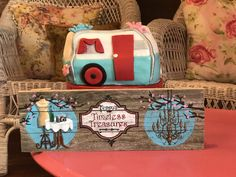 Trailer cake! Confetti Cupcakes