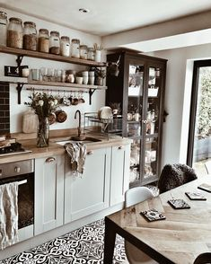 Our kitchen remodeling designs will add style and function to your home. View these kitchen remodel ideas to get inspired for your kitchen makeover. Boho Kitchen, New Kitchen, Kitchen Ideas, Kitchen Jars, Island Kitchen, Art For The Kitchen, Rustic Kitchen, Earthy Kitchen, Parisian Kitchen
