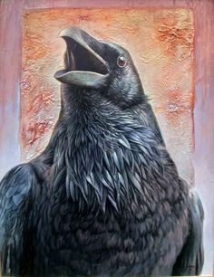 Raven, 2011 by Hans Droog - Oil Painting