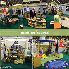Which learning space is your favorite? #NAEYCAC #NAEYC2014 #Dallas #InspiringSpaces #ClassroomSetup