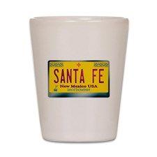 """SANTA FE"" New Mexico License Plate Shot Glass for"