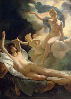 artofrestraint:Pierre-Narcisse Guérin, Morpheus and Iris, 1811