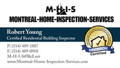 Business card inspector home inspection business card samples business card inspector brochure and business card montreal home inspection services inspector colourmoves