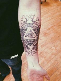 Sacred Geometry by Brendan Rowe from Memoir Tattoo in LA