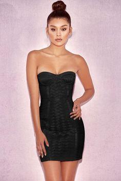 e659816ffd3 Tube Top Weave Detail Bandage Dress