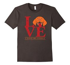 Men's Vizsla Shirt - I Love My Vizsla Dog T-Shirt I Love My Vizsla shirt. Vizsla Shirt is one of the best tee from all Hungarian Vizsla clothing you can find. It can be baby clothes vizsla too. Funny and cute Vizsla face on your tee makes you feel happy the whole day wearing it. Happy Vizsla Dog Face print on the t-shirt. Made for Hungarian and Magyar Vizsla dog breed owners and lovers. Adorable face of Vizsla Dog shirt is a wonderful gift for every Vizsla Owner. Red Letters LOVE and…