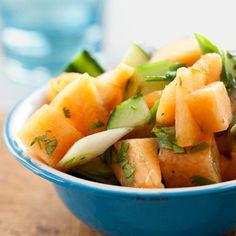Summer Cantaloupe & Cucumber Fruit Salad
